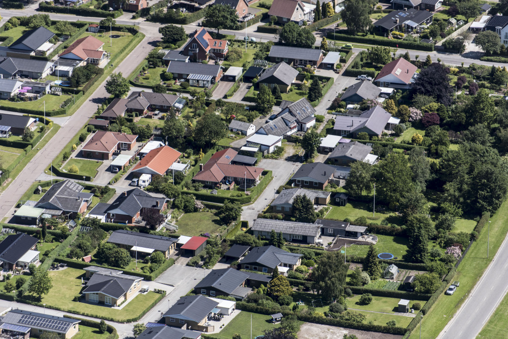 Luftfoto Rosmarinvej Engelsborg Viborg